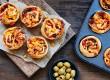 طرز تهیه مافین پیتزایی قارچ و مرغ؛ در فر و در ماهیتابه